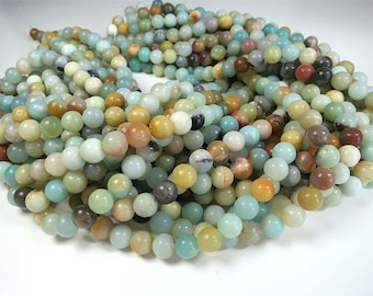 Amazonite Beads 4mm 6mm 8mm 10mm 12mm Round Natural Gemstone Loose 15.5 inch Full Strand Wholesale