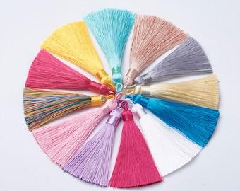 "1 pcs 3.14"" / 8CM Polyester Tassels Mala Tassels Multiple Color Options"