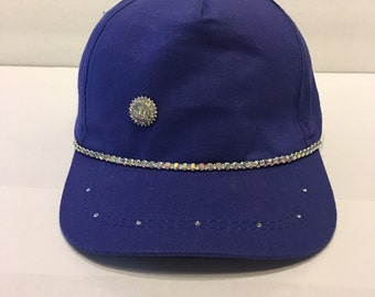 Bling Sparkle Embellished Blue Hat