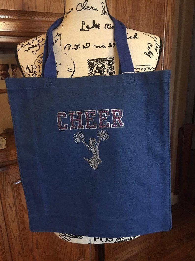 Pretty Bling Cheer Tote Bag