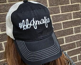 8a482f9028d BBQ MAFIA BASEBALL Dad Hat-New!- Trucker Hat-Black
