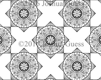 Geometric Coloring Pages 1-3