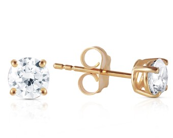 14K. gold stud earrings with  0.80 CT. H-I, SI-2 DIAMONDS white gold rose gold yellow gold