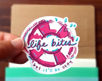 Life Bites Sticker
