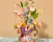 Shabby Chic Pitcher Easter Ornament Tree