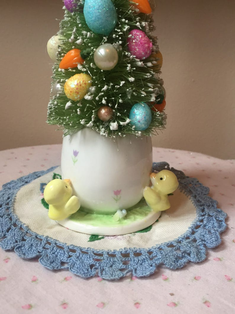 On Sale Vintage Egg And Chicks Planter Candleholder With Etsy