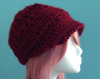72cea64c2eb Customizable hat. Beautiful Crochet Newsboy Cap. Girls