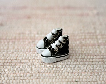 Black keds for dolls. Smallest doll's shoes