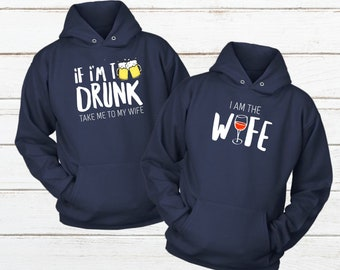 the best attitude 60dcd ed1bd Couple Hoody His and Hers Hoodies Drinking Couples Sweatshirt Matching Gift  for Husband and Wife