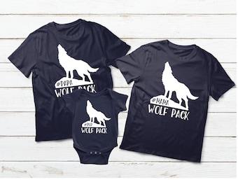 54ef3419 Family Matching Shirts, Wolf Pack, Mama Wolf, Papa Wolf, Pup Wolf, Family  Shirts, Mom Dad Kids Shirts, Family Set Shirts, Family Gifts