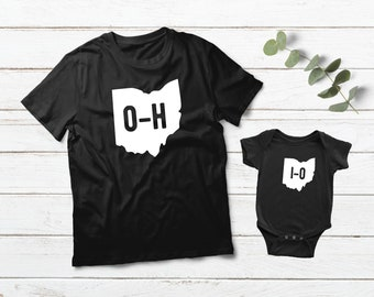 6f1d83523 Ohio State Shirts Father Son Matching Outfit OH Home State Gift Daddy and  Me Baby Boys Clothes Dad and Son Shirts