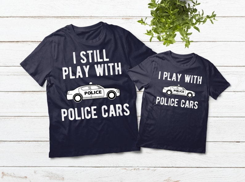 9d292eeaf24 Police Officer Gifts Father and Son Matching Shirts I Still