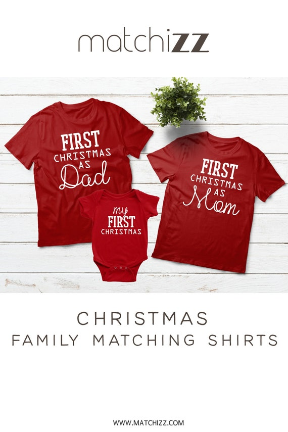 Baby First Christmas Family Outfits Dad Mom Son Daughter Etsy