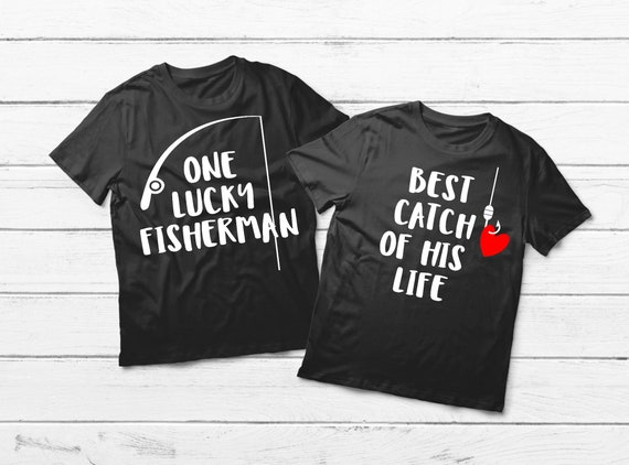 01d0be257c Couples Fishing Shirts We Match Couple Shirts I'm His Best | Etsy