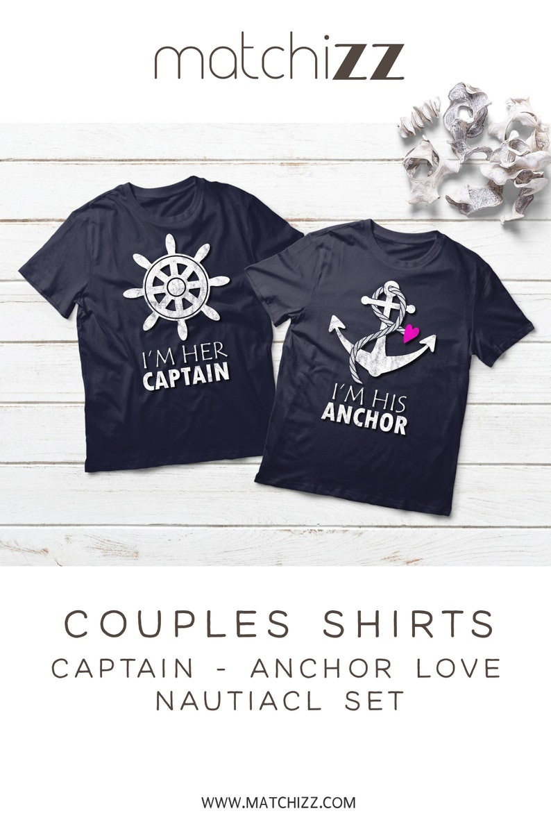 c4a813f2ed Couple Shirts Cruise Sailing Couple Anchor Captain Shirts | Etsy