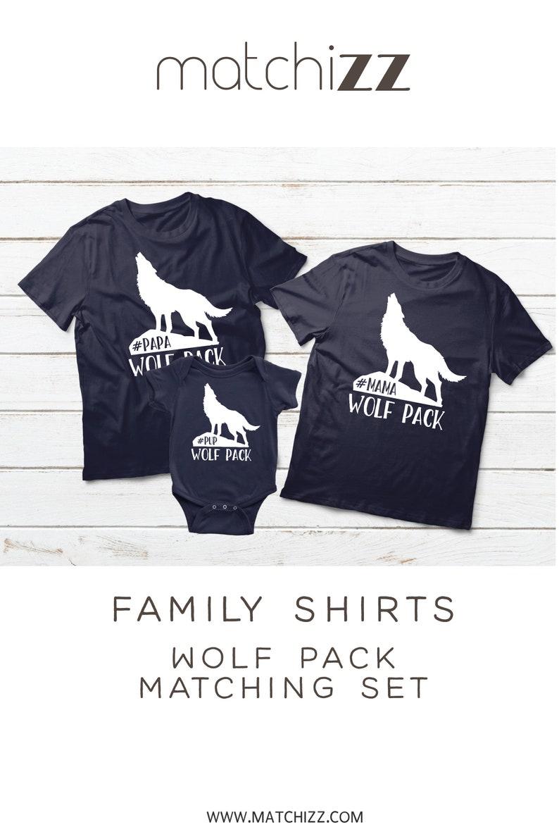 073febab Family Matching Shirts Wolf Pack Mama Wolf Papa Wolf Pup | Etsy