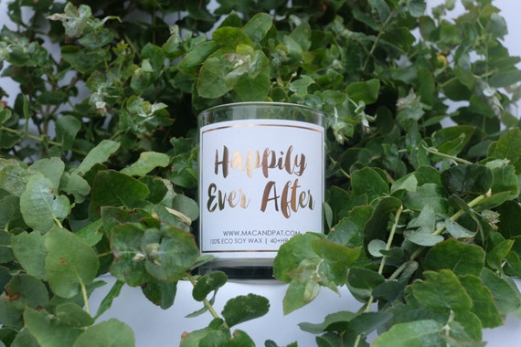 Happily Ever After Wedding Candle Wedding Gift Etsy