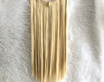 20 inches Halo Hair Extensions, One piece Invisible wire straight hair, human hair look, free shipping, hair accessories,women