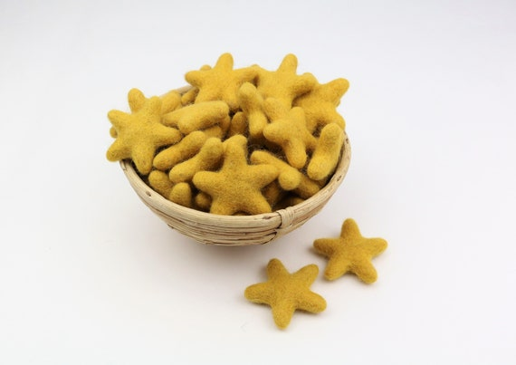 yellow felt stars for crafting #8 decoration Pom Poms versch. Colors Felt Stars Garlands Decoration Colorful
