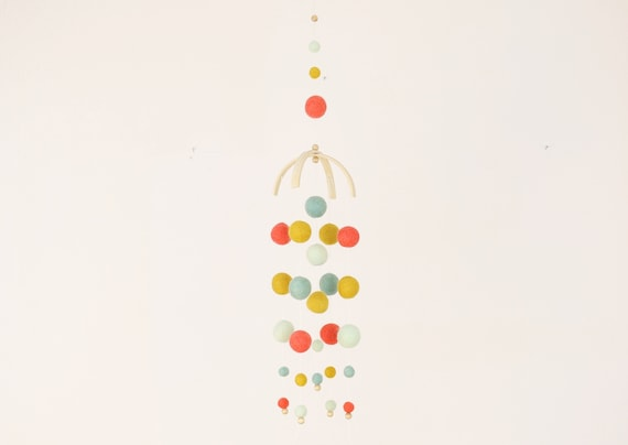 "create your own: Customizable Mobilé ""Kunterbunte Child Happiness"" colorful baby gift individual gift for birth"