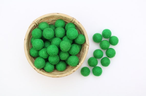 grass-green felt balls for crafting #1 felt balls decoration pom poms. Colors Felt Balls Garlands Decoration Colorful
