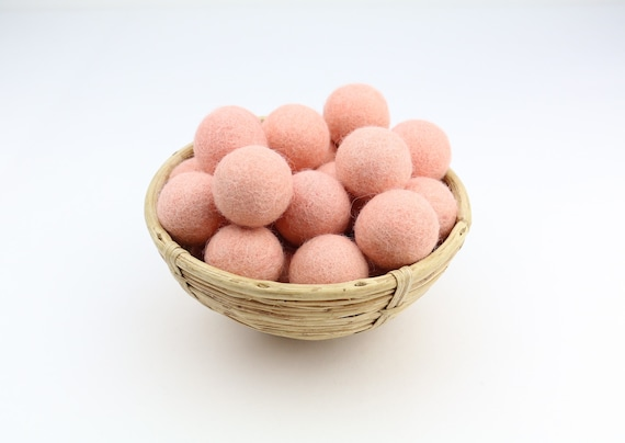 3 cm pastel-pink felt balls for crafting #15 felt balls decoration pom poms different. Colours Felt Balls Garlands Decoration