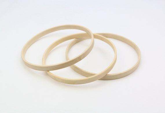 Ring Aus Holz Bambus 13 Cm Durchmesser Holzring Zubehör Für Mobilé Makramee Hoop Reifen