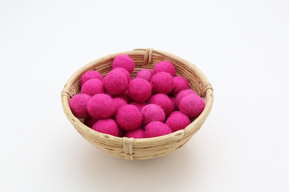 Fuchsia colored felt balls for crafting #17 felt balls decoration pom poms versch. Colors Felt Balls Garlands Decoration Colorful