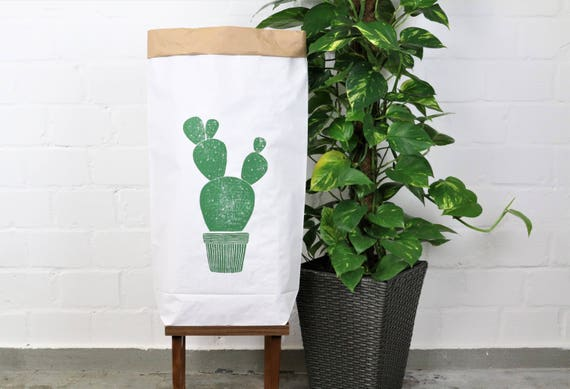 Paperbag urban jungle print * cactus * succulents
