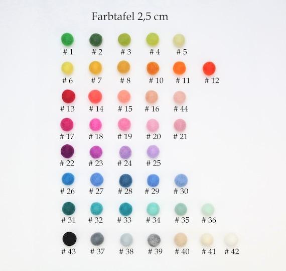 colorful felt ball mix 2.5 cm for crafting felt balls decoration Pom Poms versch. Colors Felt Balls Garlands Decoration colorful felt beads