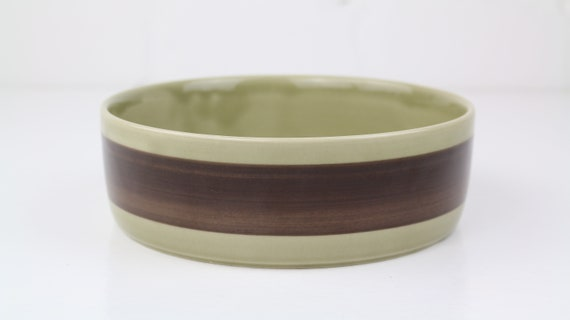 Melitta Helsinki Bowl Salad hand painted brown vintage top mod kitchen made in Germany