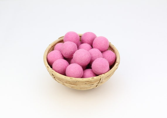 3 cm baby-rose felt balls for crafting #19 felt balls decoration pom poms different. Colours Felt Balls Garlands Decoration