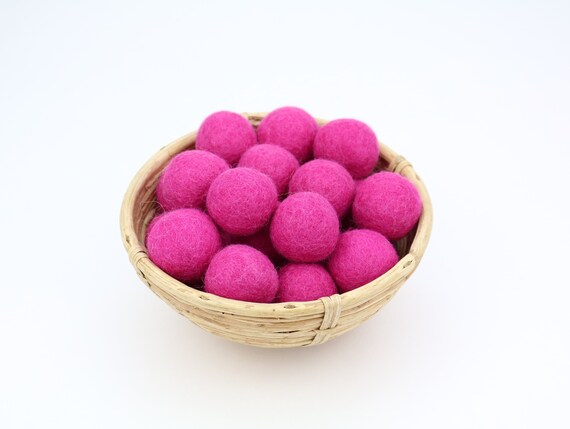 3 cm fuchsia felt balls for crafting #17 felt balls decoration pom poms different. Colours Felt Balls Garlands Decoration