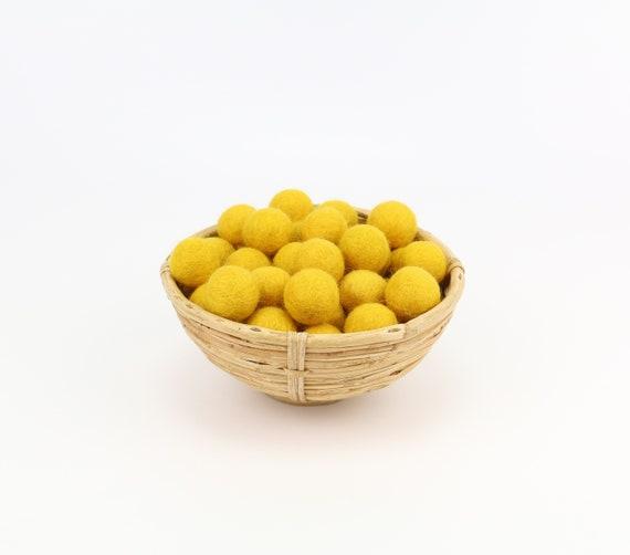 sun-yellow felt balls 1 cm/ 2.5 cm for crafting #7 felt balls decoration Pom Poms versch. Colors Felt Balls Garlands Decoration colorful
