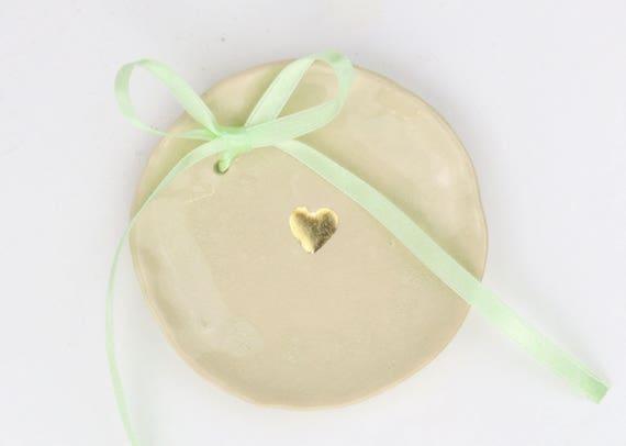 Boho Wedding ringing bowl for your wedding ceramic d 12 cm