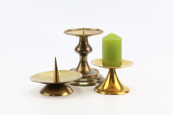 versch. vintage candlestick in brass boho wedding table decoration candlestick candlestick candle holder gold mid century modern brass candle holder