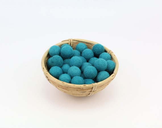 petrol felt balls 1 cm/ 2.5 cm for crafting #33 felt balls decoration Pom Poms versch. Colors Felt Balls Garlands Decoration colorful