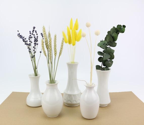 Mix Box Dry Flowers in Mini Bund Gift Flowers Dried dried flowers Eucalyptus White Craspedia Yellow Lagurus Wheat Lavender