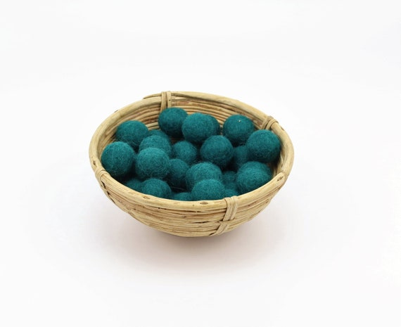 petrol green felt balls 1 cm/ 2.5 cm for crafting #31 felt balls decoration Pom Poms versch. Colors Felt Balls Garlands Decoration colorful