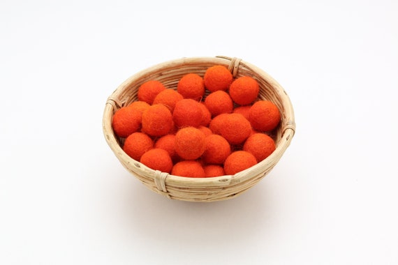 dark orange felt balls 1 cm/ 2.5 cm for crafting #12 felt balls decoration Pom Poms versch. Colors Felt Balls Garlands Decoration colorful