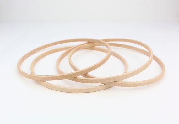 Ring Aus Holz 20 Cm Durchmesser Holzring Zubehör Für Mobilé Makramee Hoop Reifen