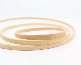 30 cm x ring from beech or bamboo wooden ring accessories for mobilé makramee hoop hoop hoop 12 cm 20 cm wooden wreath DIY craft kit crafting with children