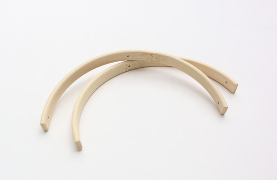 Bows of wood bamboo wooden arch accessories for Mobilé DIY 12 cm diameter
