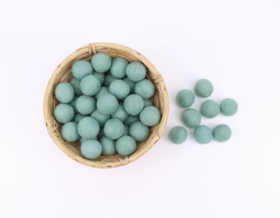 aloe felt balls 1 cm/ 2.5 cm for crafting #35 color sage felt balls decoration Pom Poms versch. Colors Felt Balls Garlands Decoration colorful