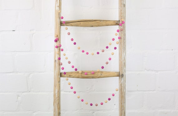 create you own: Garland made of felt balls (1 cm) 1.00 m - 2.00 m length Pom Pom Garlandbaby Baby Room Decoration Nursery Nursery Wall Decoration garland