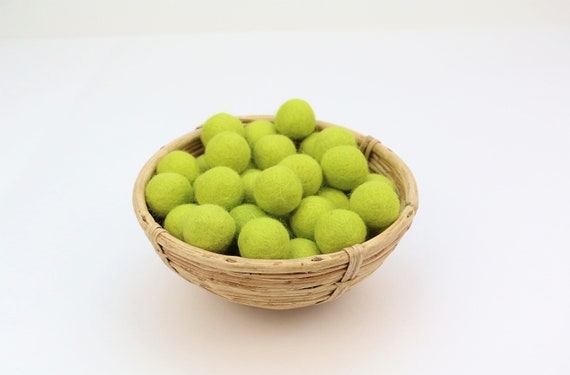 light green felt balls for crafting #4 felt balls decoration pom poms versch. Colors Felt Balls Garlands Decoration Colorful