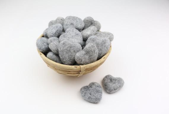 grey mottled hearts made of felt for crafting #39 decoration Pom Poms versch. Colors Felt Hearts Garlands Decoration Colorful