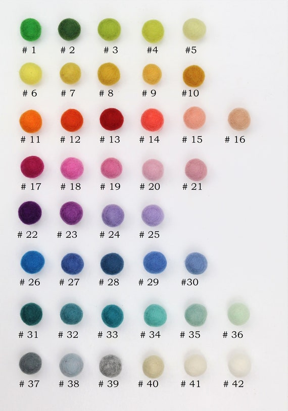 colorful felt ball mix 1 cm for crafting felt balls decoration pom poms versch. Colors Felt Balls Garlands Decoration Colorful Felt Beads
