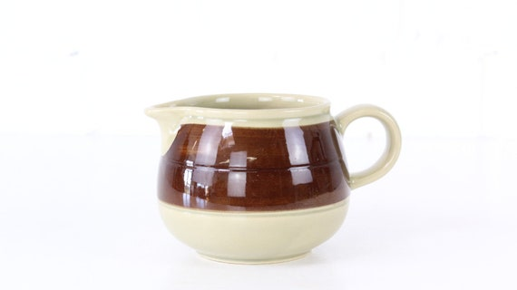 "Vintage Melitta Ceracron ""Helsinki"" bulbous Gravy Boat ""Special Edition"" hand-painted brown vintage top condition German Pottery Specials Edition"