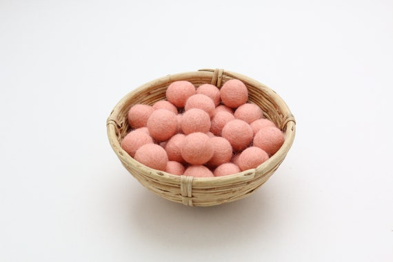 pastel pink-coloured felt balls 1 cm/ 2.5 cm for crafting #15 felt balls decoration Pom Poms versch. Colors Felt Balls Garlands Decoration